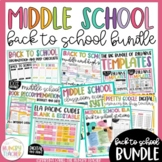 Middle School Back to School Bundle-Syllabus, Pacing Guide, Station Activities