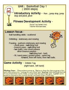 Physical Education - Middle School Basketball Unit