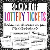 Middle School Behavior Incentive Reward Tickets