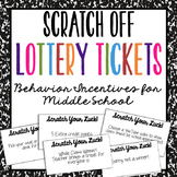 Editable Reward Tickets | Middle School Behavior Incentive | Coupon
