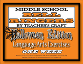Middle School ELA Bell Ringers - Halloween