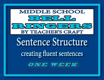 Middle School Bell Ringers - Sentence Structure