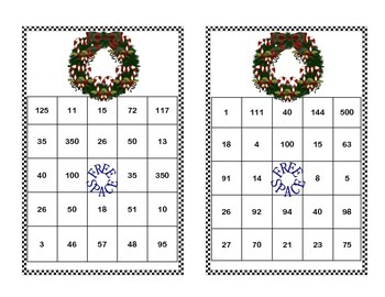 Algebra-Solving Equations -All 4 Operations-Middle School Bingo Game-Christmas