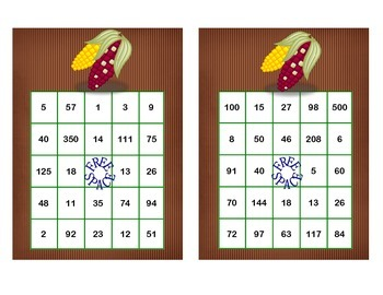 Solving Equations -All 4 Operations-Middle School  Bingo Game Fun-Fall