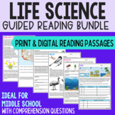 Middle School Biology - Guided Readings - Growing Bundle