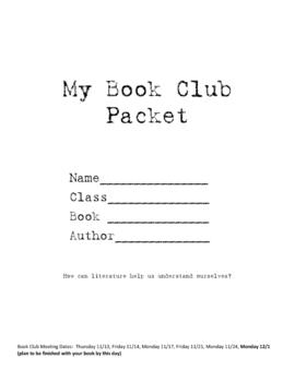 Middle School Book Club (Literature Circles) Organizer