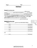 Middle School Book Report Worksheet