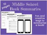 Middle School Book Summaries
