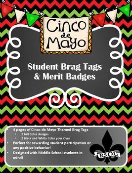 Middle School Brag Tags--Cinco de Mayo