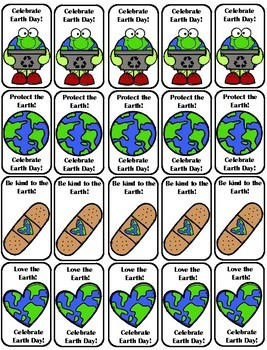 Middle School Brag Tags--Earth Day