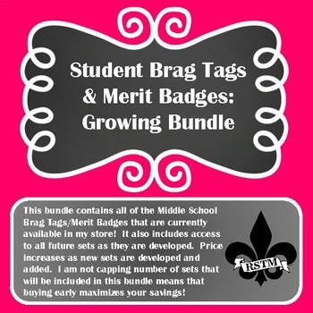 Middle School Brag Tags GROWING BUNDLE