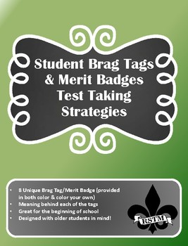Middle School Brag Tags--Test Taking Strategies