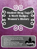 Middle School Brag Tags--Women's History Month
