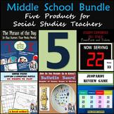 Middle School Bundle: Five Products for Social Studies Teachers