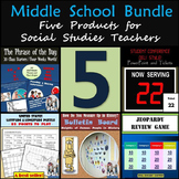 Middle School Bundle: Five Products for Social Studies Teachers