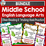 Middle School Bundle: Close Reading & Writing Tasks