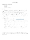 Middle School Career Exploration Project (with rubrics!)