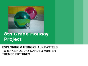 Middle School Chalk Pastel Holiday Value Scale PowerPoint