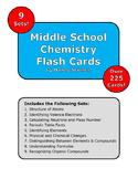 Bundle: Middle School Chemistry Flash Cards