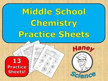 Middle School Chemistry Practice Sheet Bundle