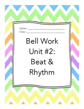 Middle School Choir Bell Work Unit 2