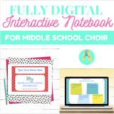 Middle School Choir Interactive Notebook- Digital