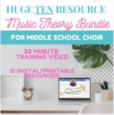 Middle School Choir Music Theory Mega Bundle