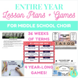 Middle School Choir Year Long Lesson Plans and Games