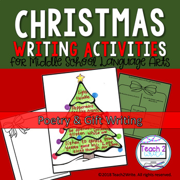 Middle School Christmas Writing Activities