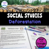 Middle School Civics and Citizenship: Deforestation , Research Project, IB