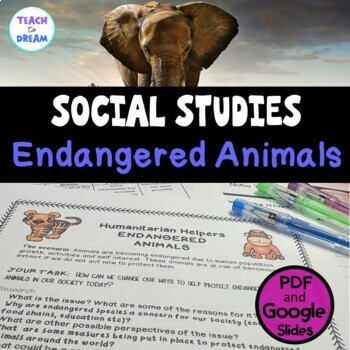 Middle School Civics and Citizenship: Endangered Animals, Research Project, IB