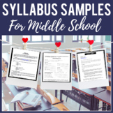 Syllabus Samples - Middle School ELA
