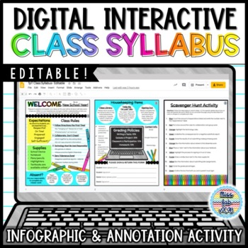 Class Rules: Editable Infographic and Scavenger Hunt!
