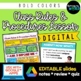 Middle School Class Rules & Procedures   Lesson: Slides &
