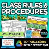 Middle School Class Rules & Procedures | Lesson: Slides &