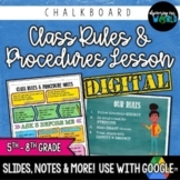 Middle School Class Rules & Procedures   Slides & Notes {C