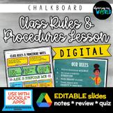 Middle School Class Rules & Procedures | Slides & Notes {C