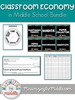 Middle School Classroom Economy Bundle