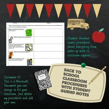 Middle School Classroom Expectations Guided Notes