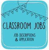 Middle School Classroom Jobs Application & Descriptions