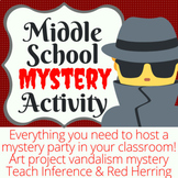 Middle School Classroom Mystery Virtual Option Available