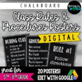 Middle School Classroom Rules & Procedures   Poster Set {C