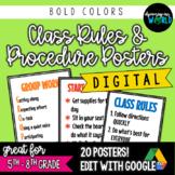 Middle School Classroom Rules & Procedures   Poster Set {DIGITAL}