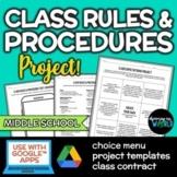 Middle School Classroom Rules & Procedures   Project {DIGITAL}