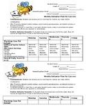 Middle School Classroom Weekly Student Behavior Plan