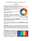 Middle School Color Theory