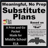 Middle School NO PREP Sub Plans ~ Poem Comprehension Packet!