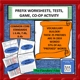 PREFIX WORKSHEETS, TESTS, GAME, CO-OP ACTIVITY,