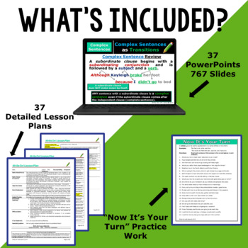 Writing Program Mega Bundle 35 Lessons for Middle School | Distance Learning