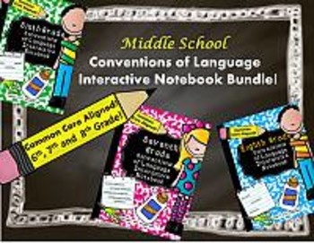 Middle School Conventions of Language Interactive Notebook BUNDLE!!